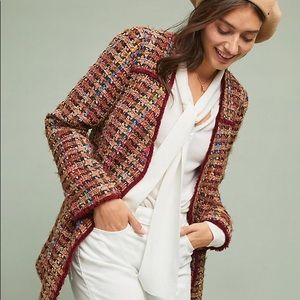 Anthropologie Harlequin Tweed Blazer NEW